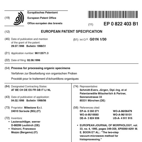 The First Milestone's European Patent